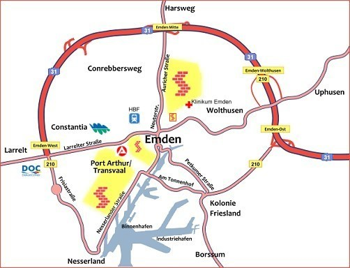 Emden Karte.Wohnungsbau Genossenschaft Selbsthilfe Emden Eg